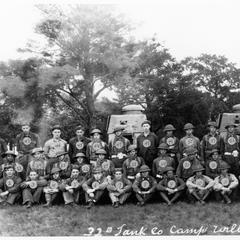 Tank Company at Camp Williams, 1934