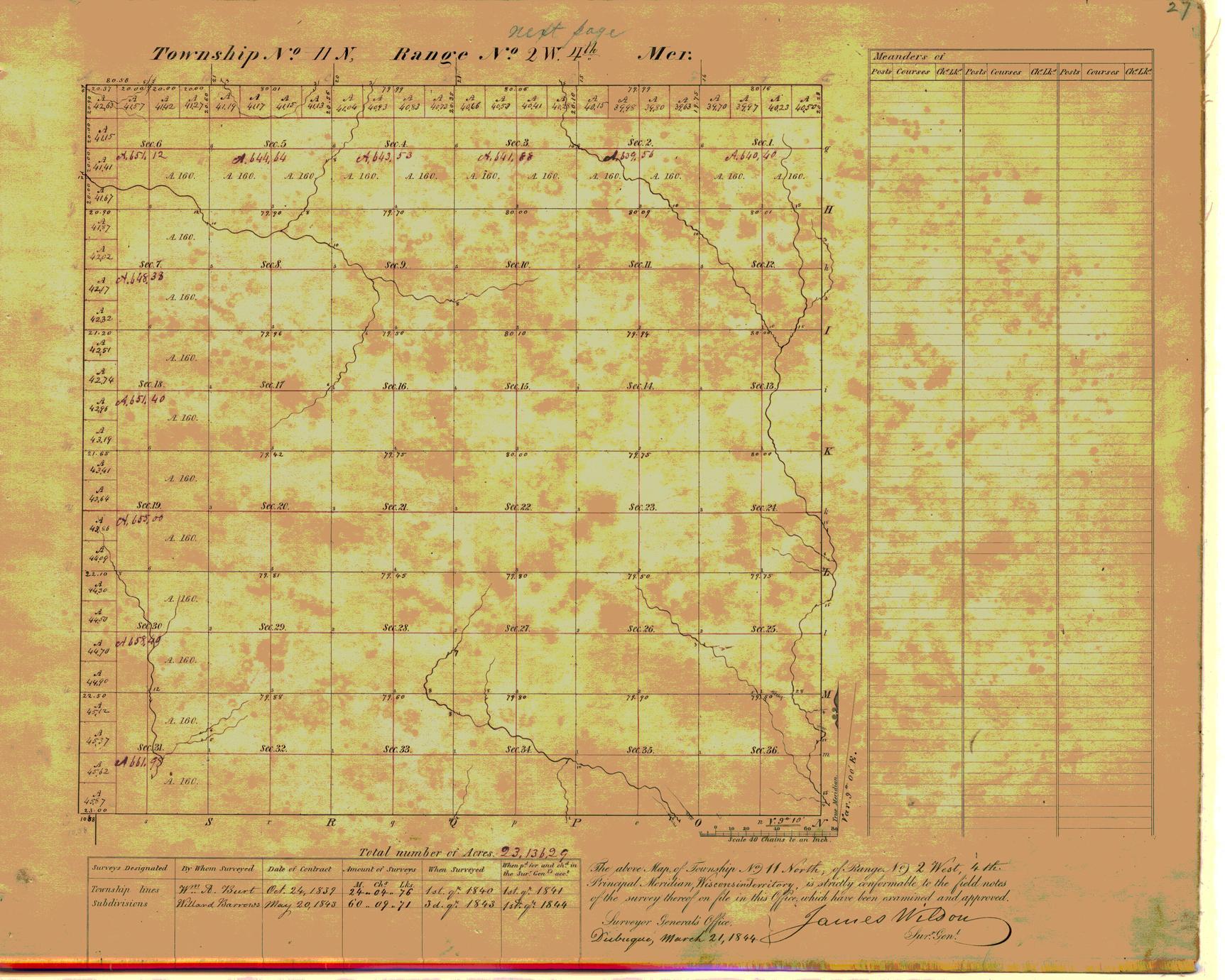 [Public Land Survey System map: Wisconsin Township 11 North, Range 02 West]
