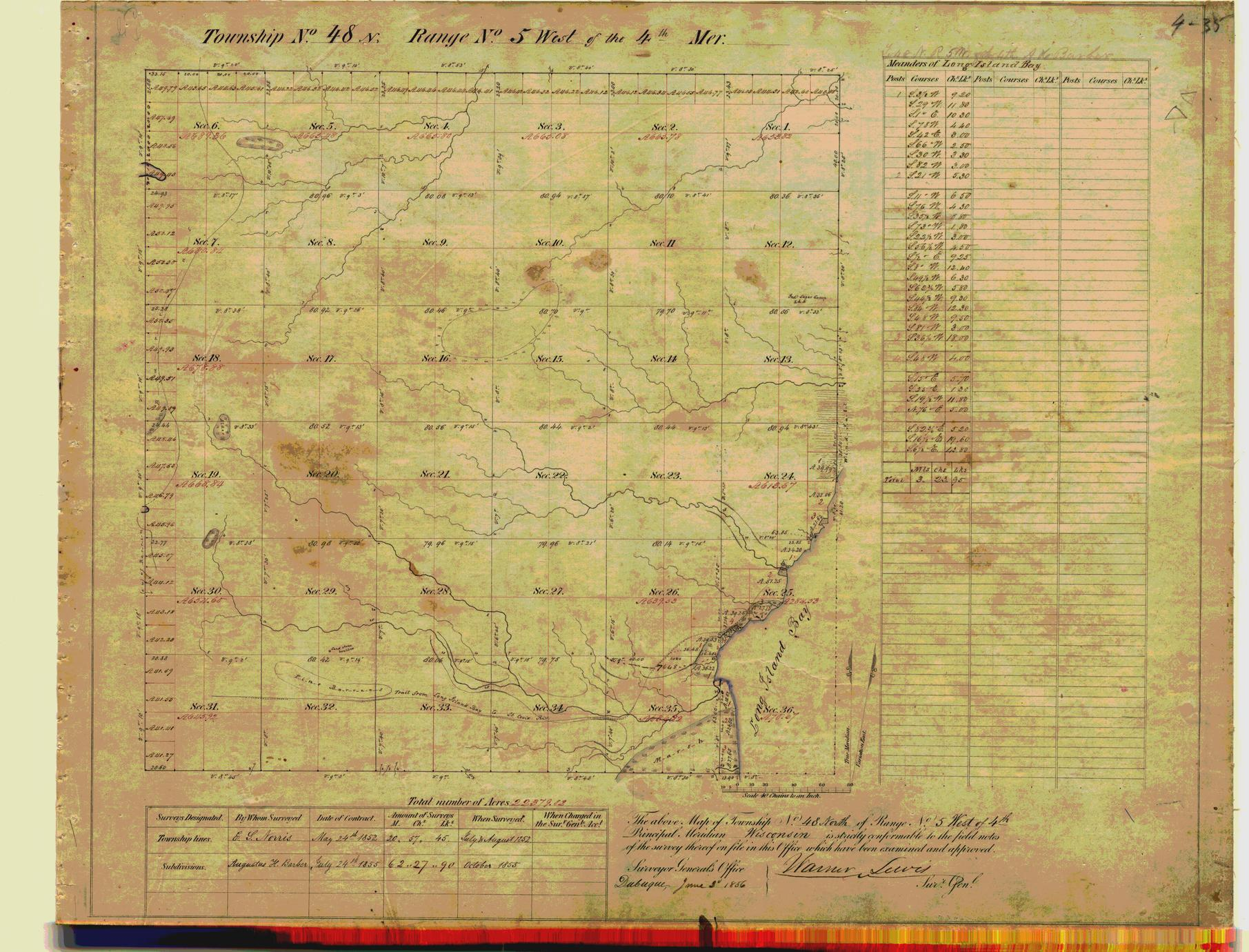 [Public Land Survey System map: Wisconsin Township 48 North, Range 05 West]