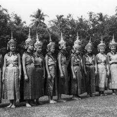The royal dancers in ceremonial dress
