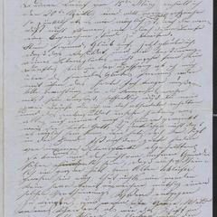 [Letter from Anton Klenert to Jakob Sternberger, May 1, 1853]