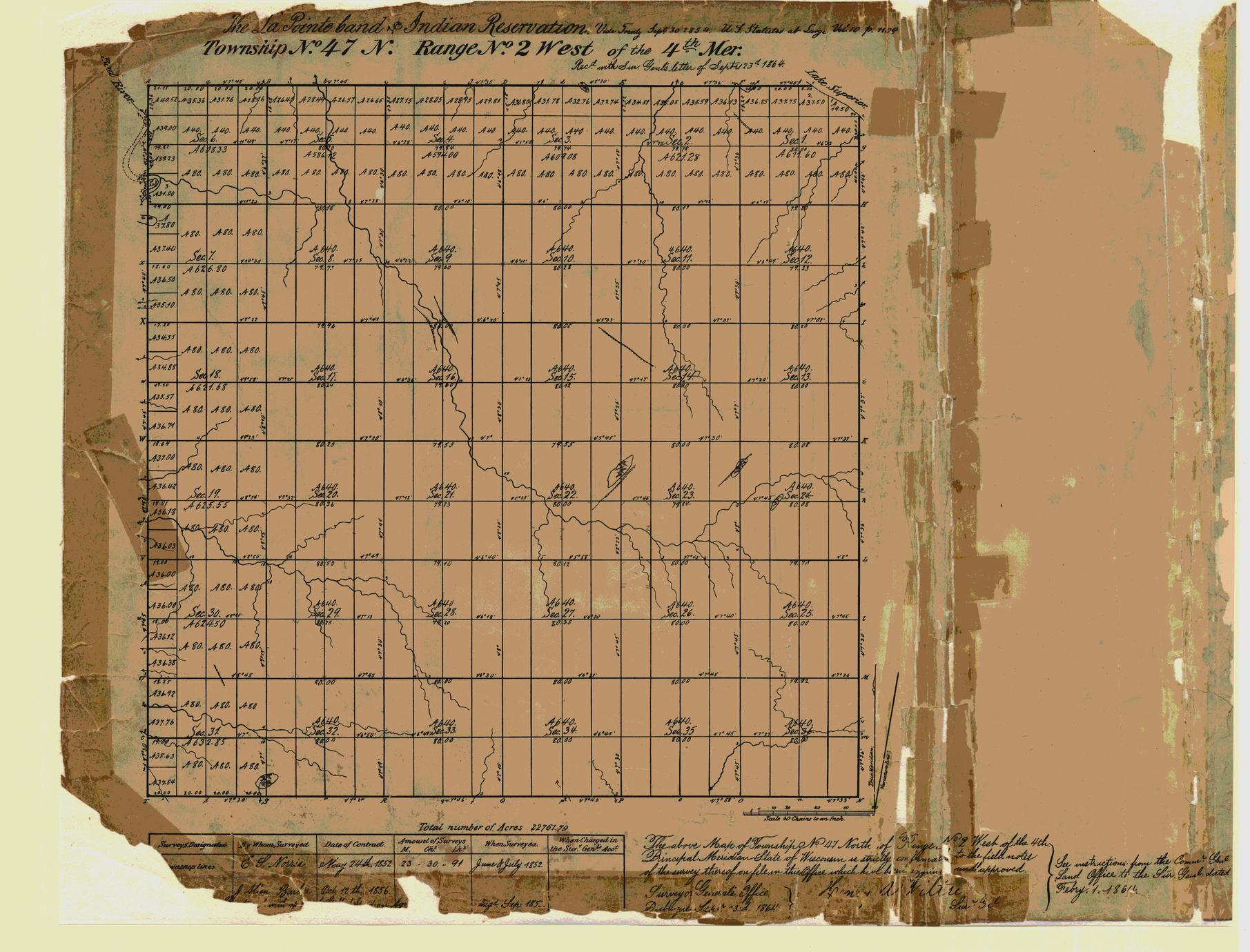 [Public Land Survey System map: Wisconsin Township 47 North, Range 02 West]