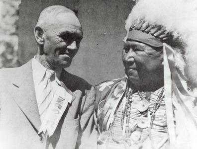 Charles Brown and Chief Yellow Thunder