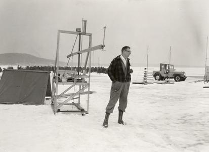 Chuck Stearns at meteorology experiment station