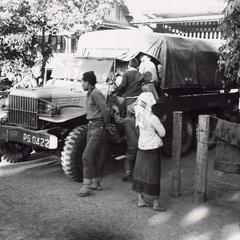 The only truck in Houei Kong to deliver coffee to Pakxong in Sedone Province