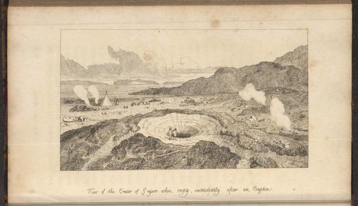 View of the crater of Geyser when empty, immediately after an eruption