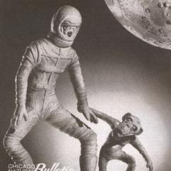 Space man and monkey