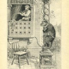 Violin Monkey Print