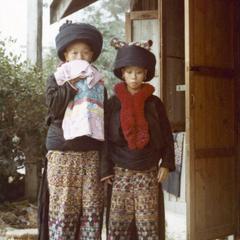 Two Yao (Iu Mien) women in Chiang Mai, Thailand