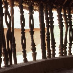 Wooden posts at Jos Museum