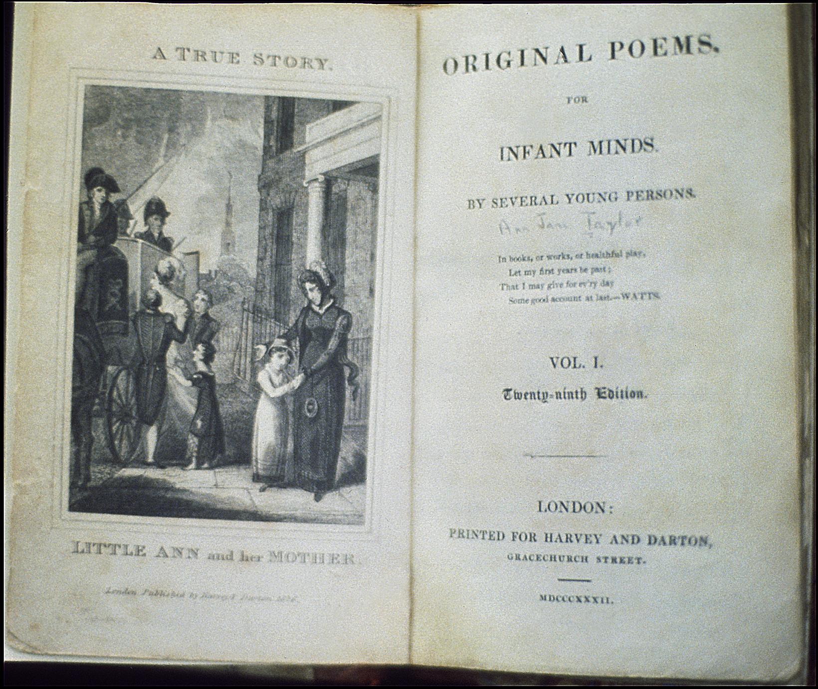 Original poems : for infant minds
