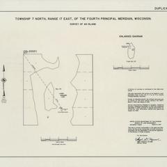 [Public Land Survey System map: Wisconsin Township 07 North, Range 17 East]