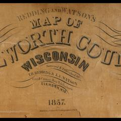 Redding and Watson's map of Walworth County, Wisconsin title detail