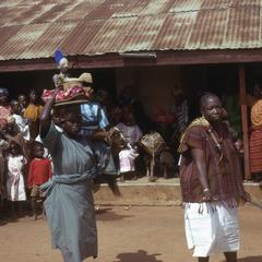 People at the yam festival