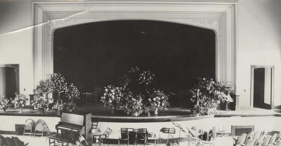 North Hall auditorium, 1931