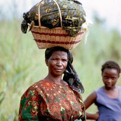 Village Woman with Load on Head