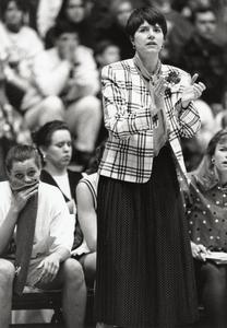 Jane Albright-Dieterle on the sidelines