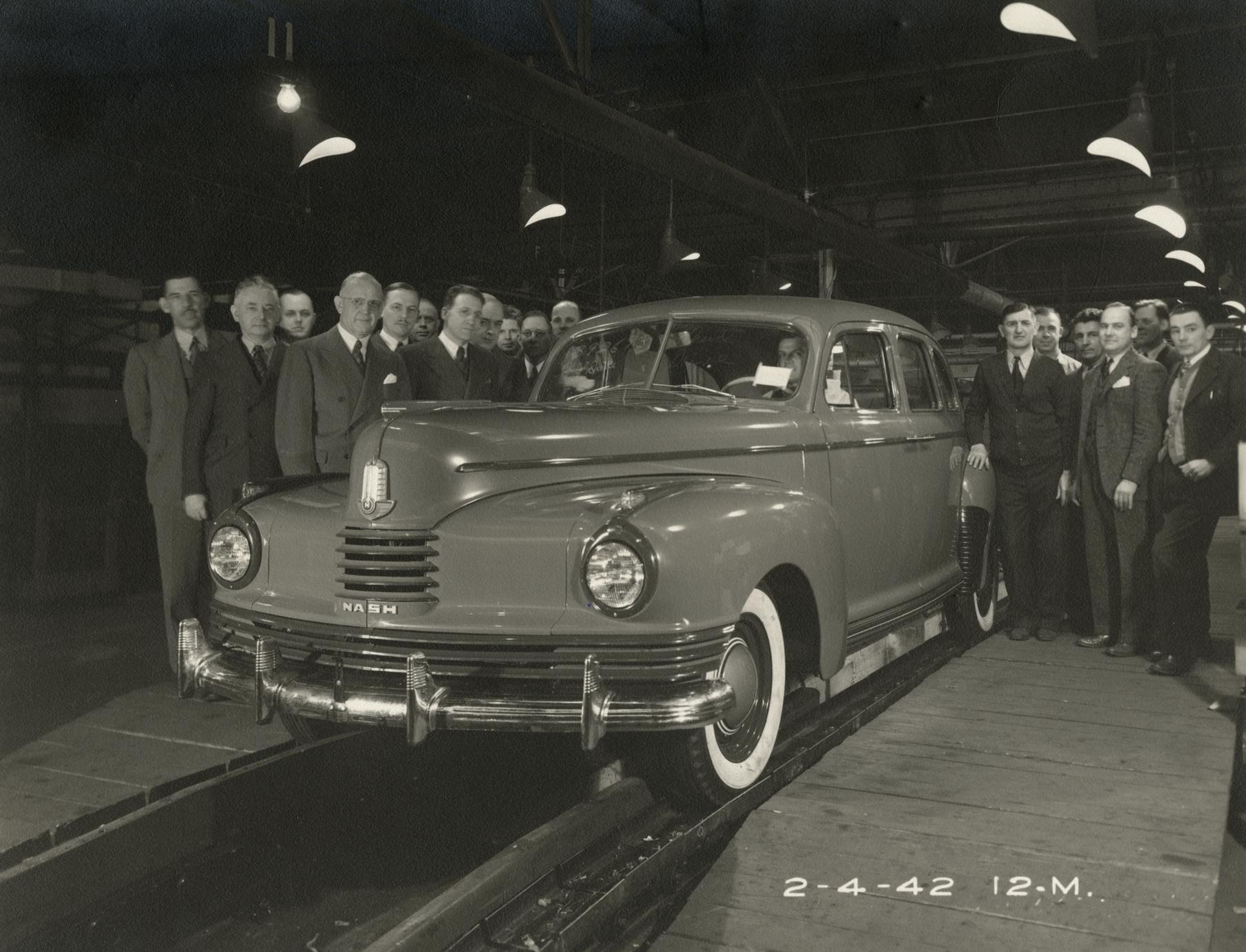 """The last """"civilian"""" Nash comes off the assembly line before World War II manufacturing begins"""