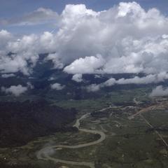 Aerial view of Vang Vieng