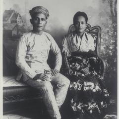 Dato Mandia and his wife, Mindanao, 1899-1901