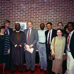 Oba Oladele Olashore with faculty and administration at UW-Parkside