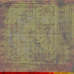 [Public Land Survey System map: Wisconsin Township 34 North, Range 15 West]