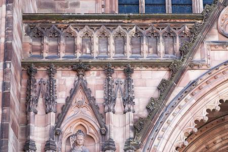 Hereford Cathedral exterior west facade