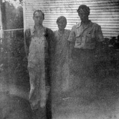 Albert Mueller, his mother and Robert Draves