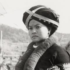 A Yao (Iu Mien) woman in Nam Kheung, Houa Khong Province