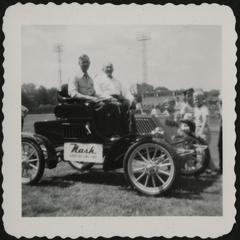 A 1902 Nash automobile in a parade