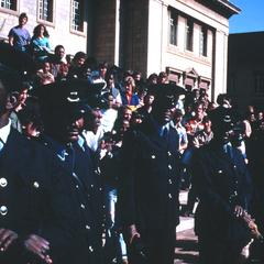 Guards at Anti-Republic Day Rally, University of the Witwatersrand, Johannesburg