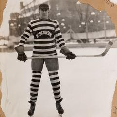 Hockey player on Library Mall