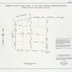 [Public Land Survey System map: Wisconsin Township 51 North, Range 04 West]