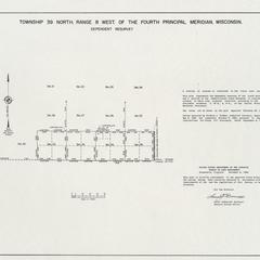 [Public Land Survey System map: Wisconsin Township 39 North, Range 08 West]