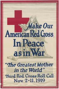 'In peace as in war' Red Cross poster