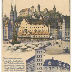 Nürnberg, die Stadt der Reichsparteitage. Adolf Hitler Platz