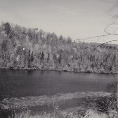 Lake and terminal moraine