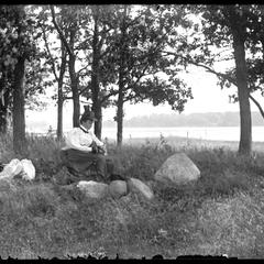 Paddock's Lake - August - Mrs. Thiers resting