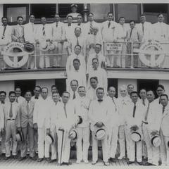 Provincial Governor General Hyde en route to Corregidor, 1933