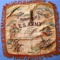 World War II pillow cover US Army