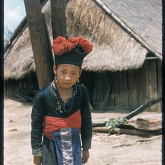 Hmong (Meo) girl carries water