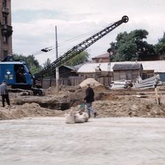 Construction in a Moscow neighborhood