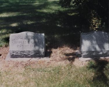Tombstone of Charles and Nell Casey