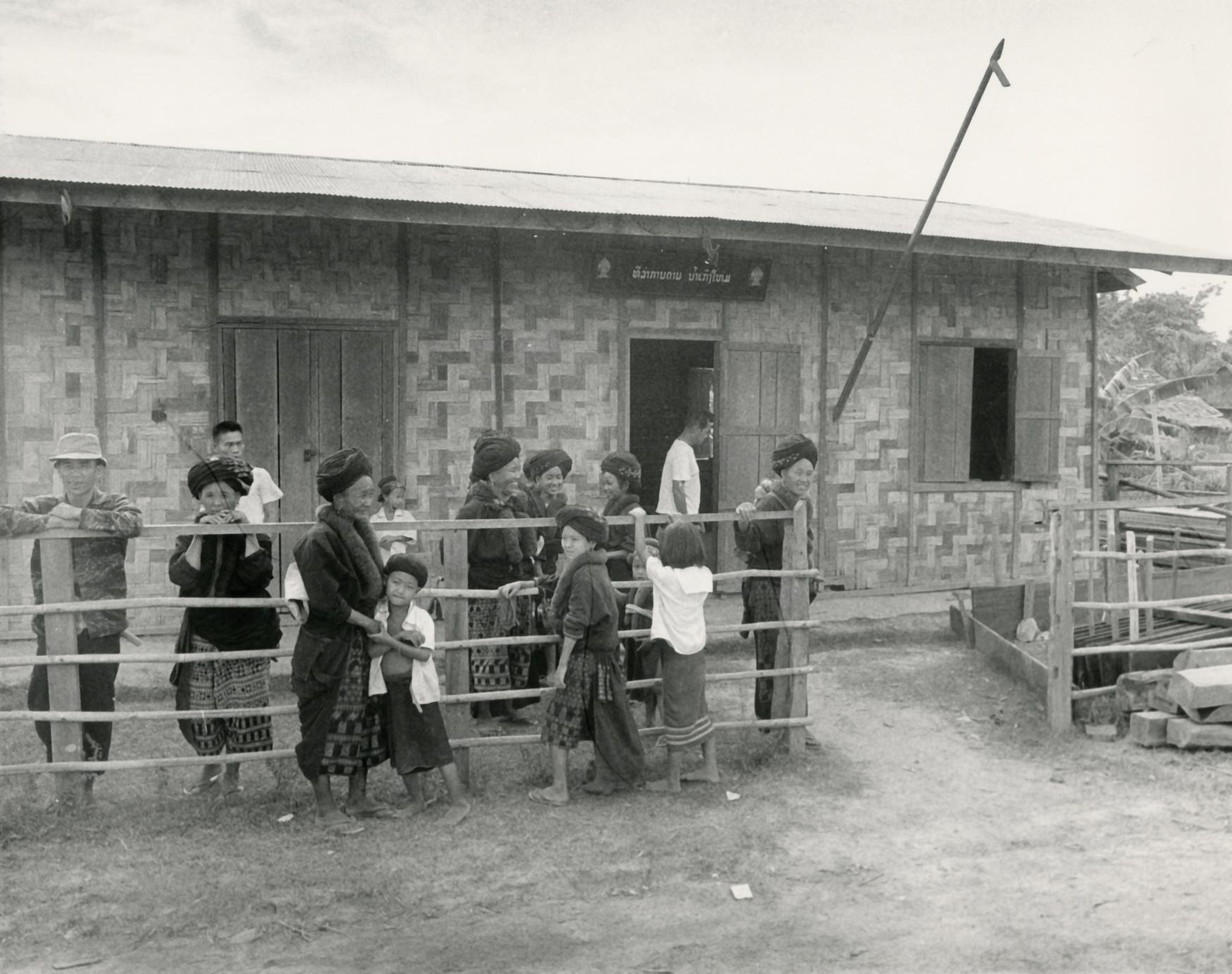 Yao (Iu Mien) villagers visit a local dispensary in Houa Khong Province