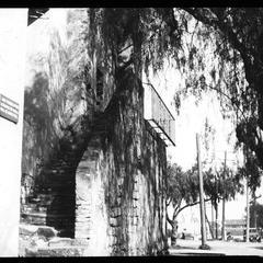 Side of San Gabriel Mission