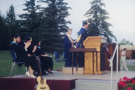 UW Barron County graduation ceremony 1998