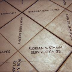 Tile purchased for Florian Stamm by his son, David, at the Monona Terrace