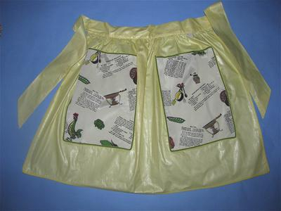 Yellow polished cotton half apron