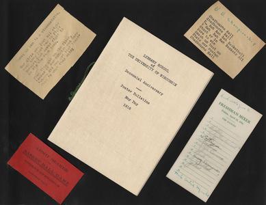 UW Library School Decennial Anniversary program