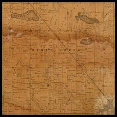 Sugar Creek Township plat map, 1857